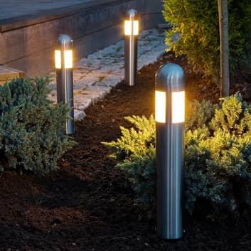 Sæt med 3 LED-sokkellampe Amalfi med jordspyd