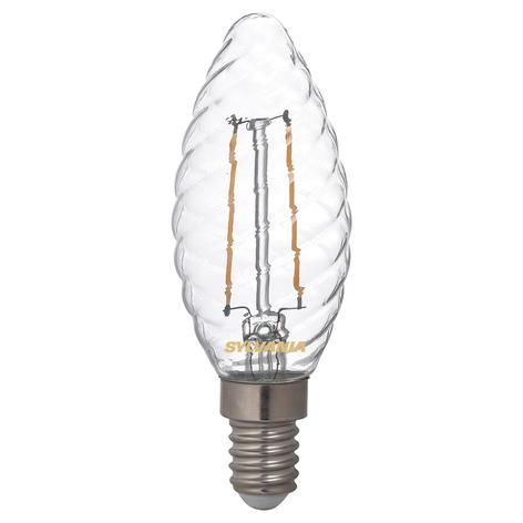 LED-mignonpære E14 ToLEDo 2,5W 827 klar, dreid