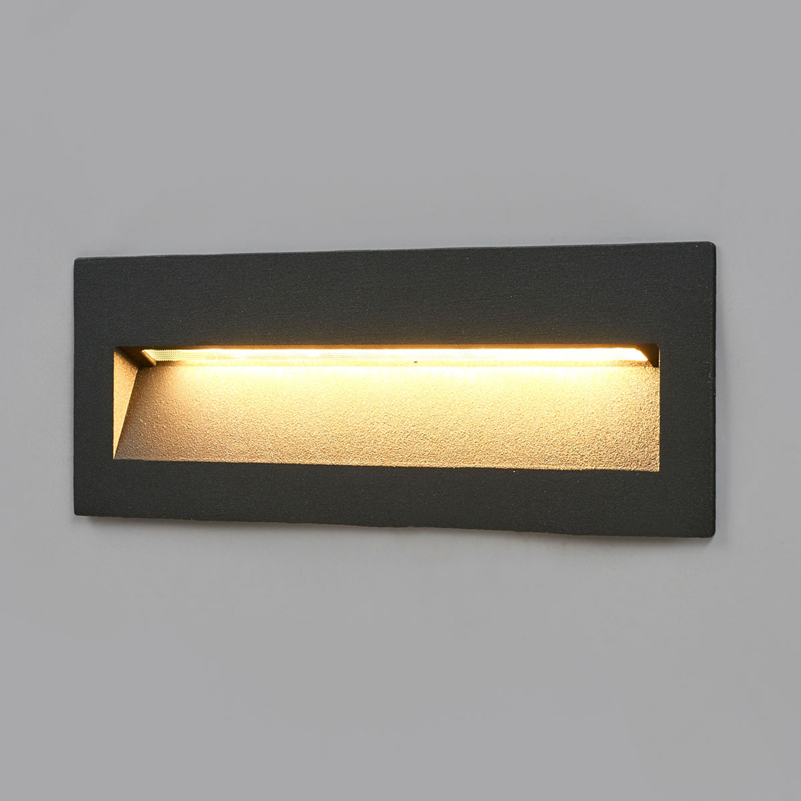 Aplique empotrable LED Loya oscuro, pared exterior