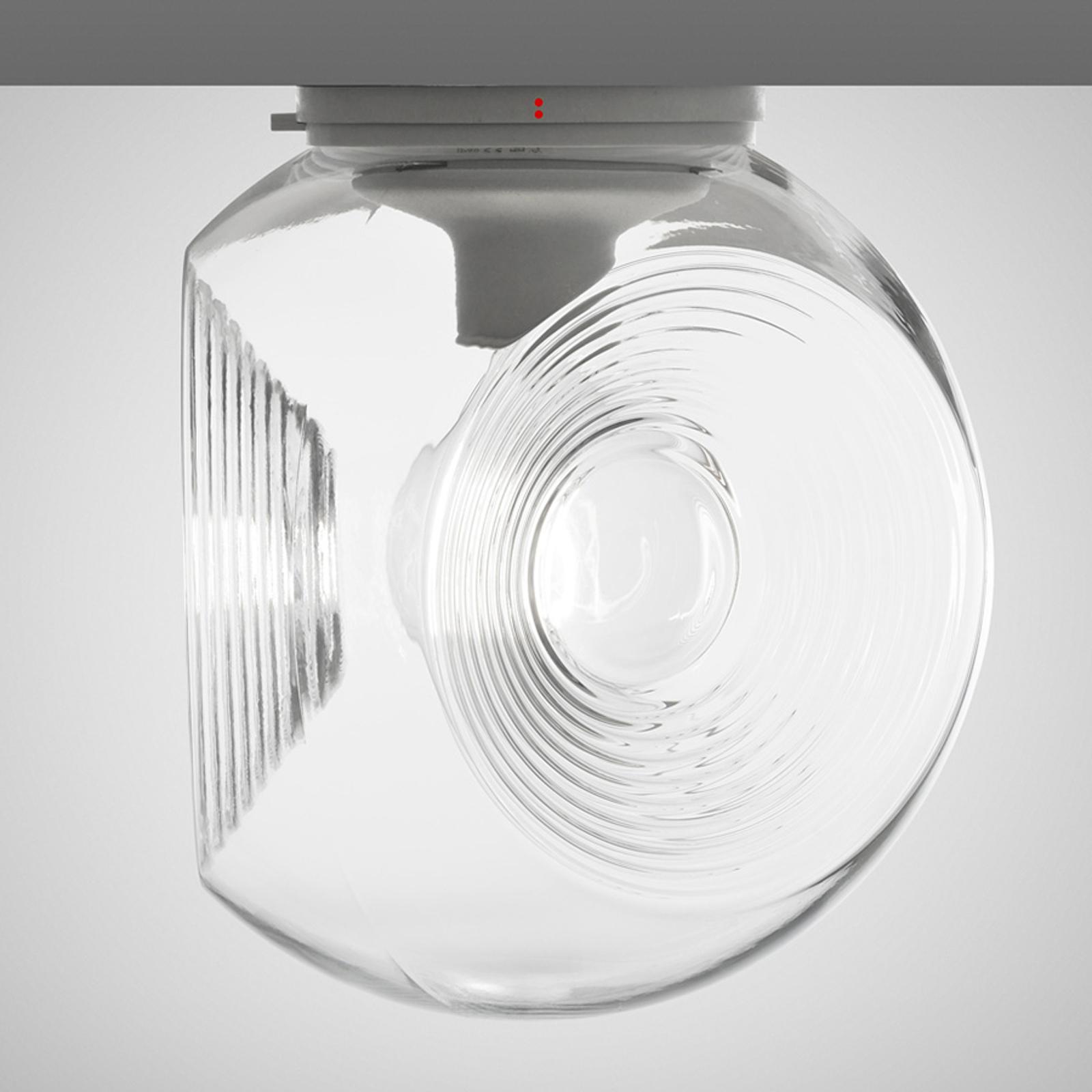 Plafonnier en verre Eyes à diffuseur transparent
