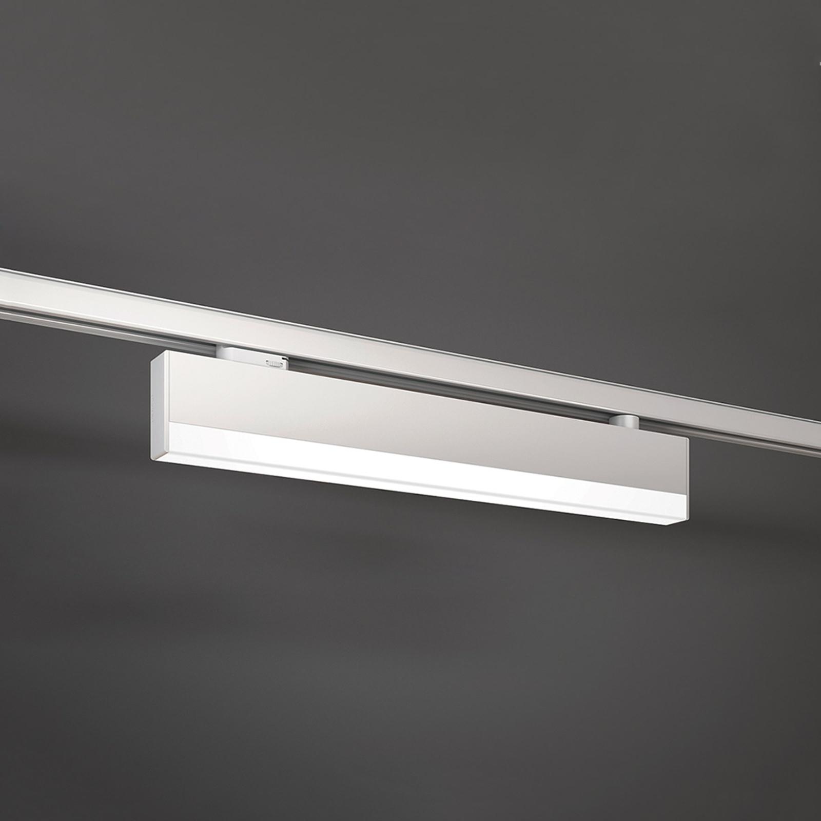 Ljus LED-lampa till 3-fas strömskena vit