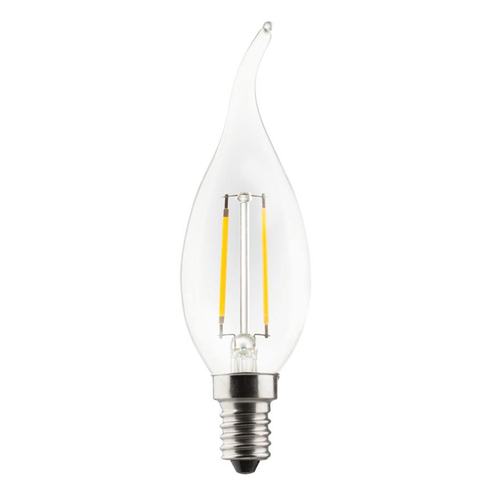 Lampadina LED candela E14 2,5W 2.700K trasparente