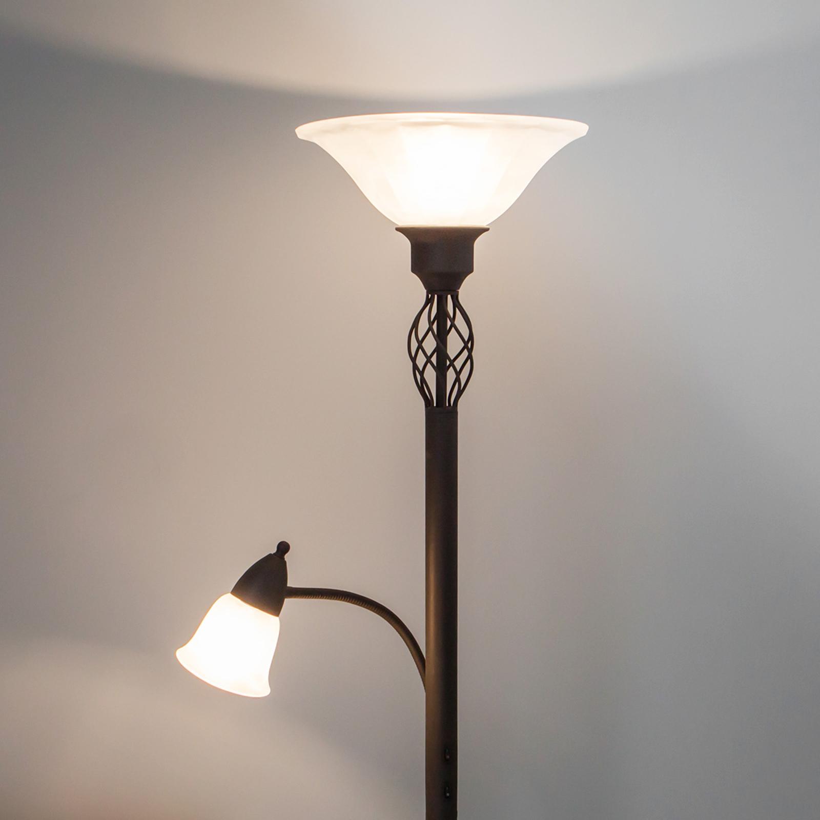 Dunja - lampada LED da terra con luce di lettura