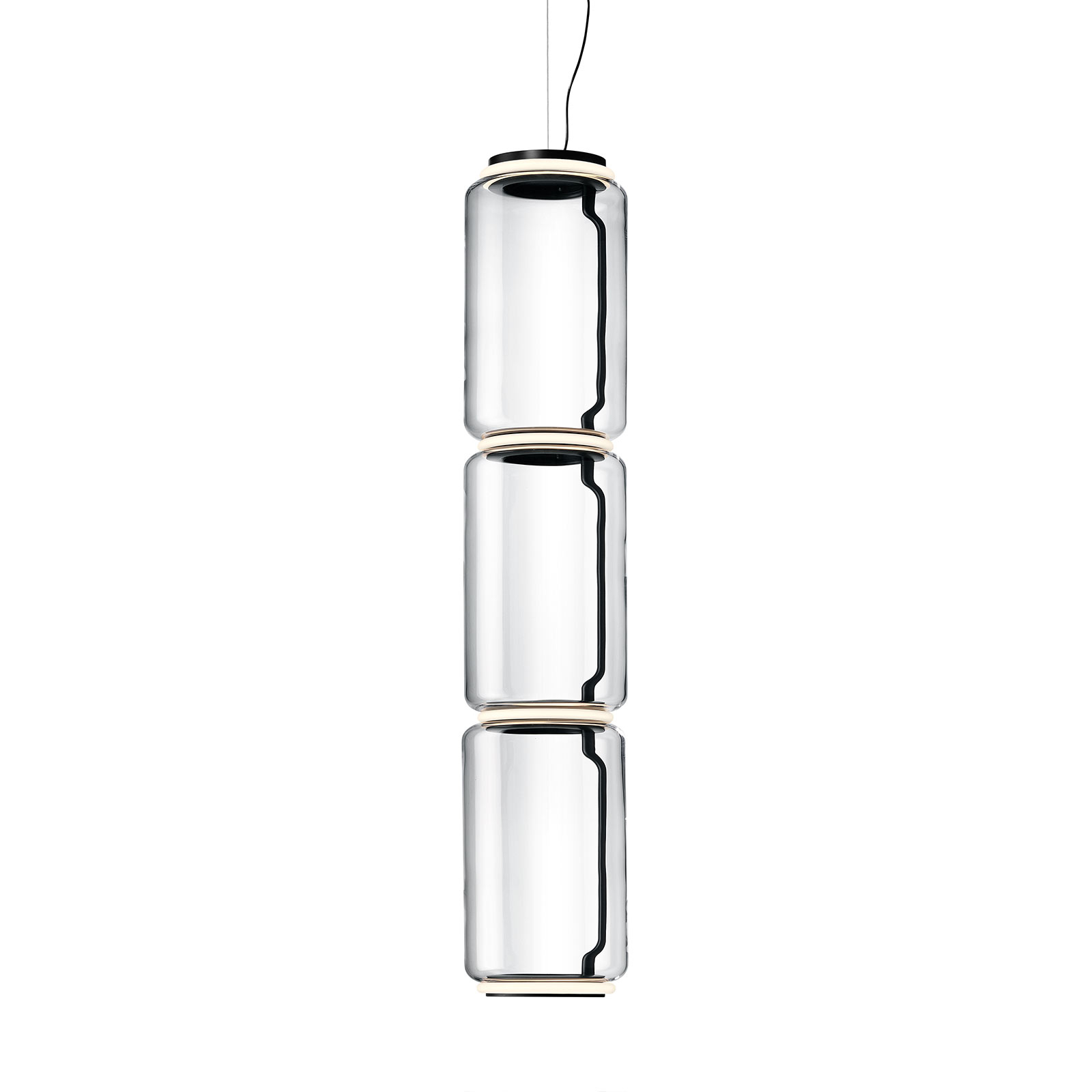 FLOS Noctambule LED-Hängelampe 3 Low Cylinders