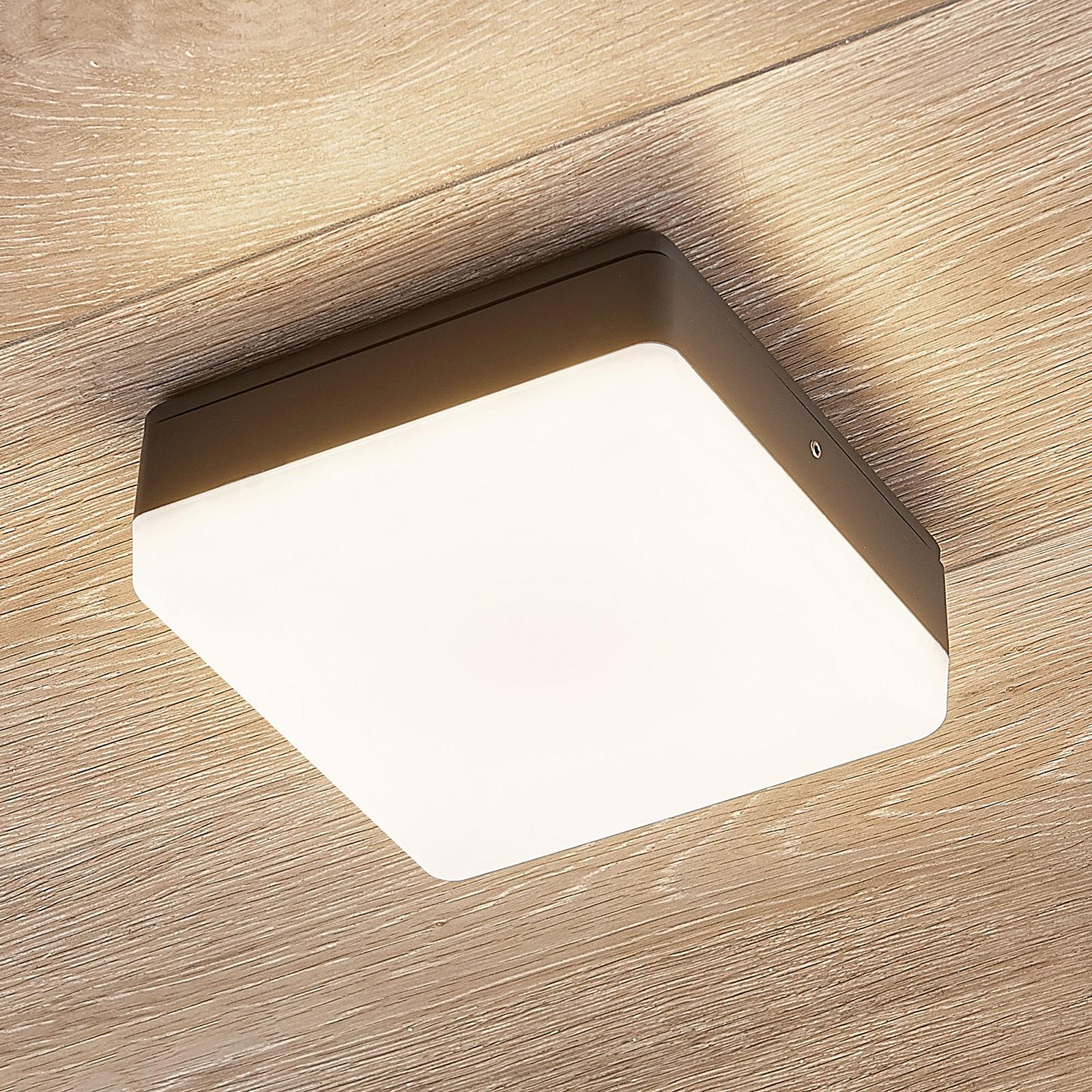 LED plafondlamp Thilo, grijs, 16 cm, HF sensor