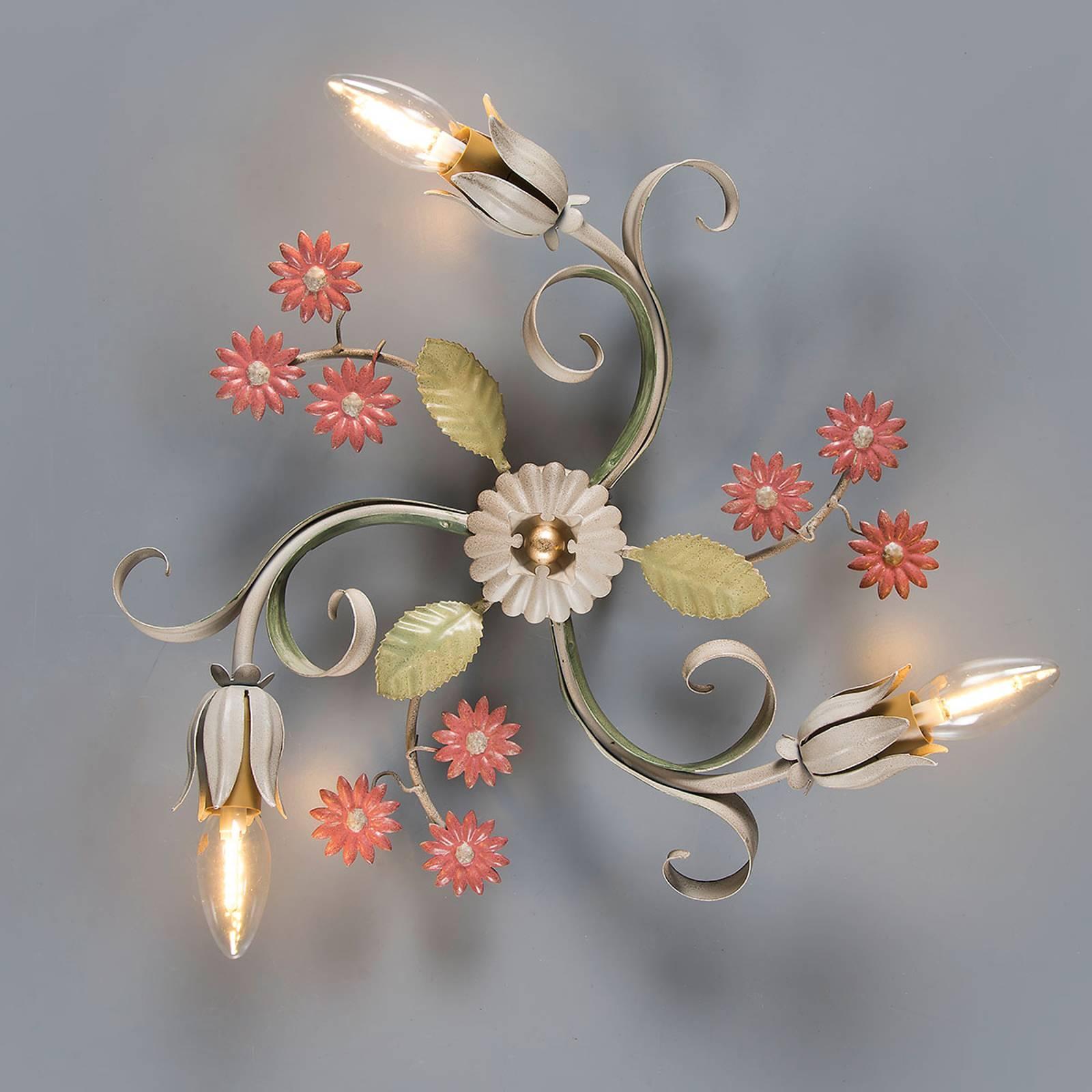 Florentijnse wandlamp Toscana, 3-lamps