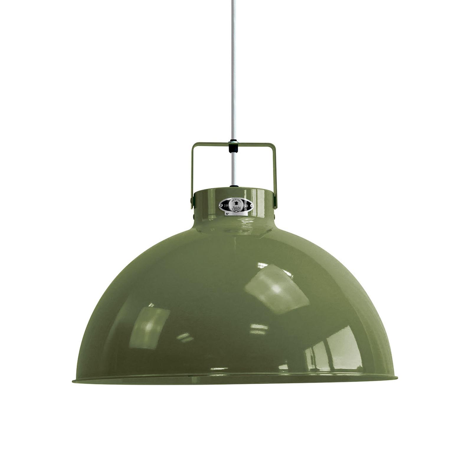 Jieldé Dante D450 lampa wisząca, oliwkowa, Ø 45 cm