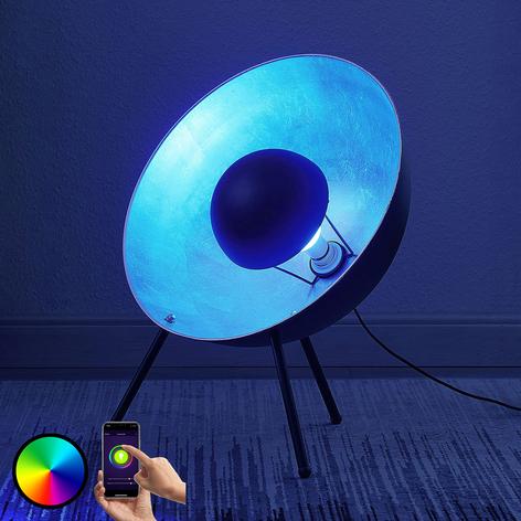 Lámpara mesa Muriel trípode 60 WiFi negro/plateado