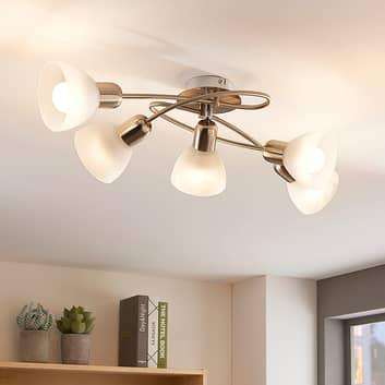 Lámpara LED de techo Paulina de 5 bombillas, salón