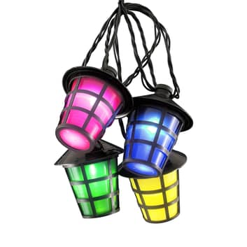 Udendørs-lyskæde Papirlanterne 20 LED-lant. kulørt
