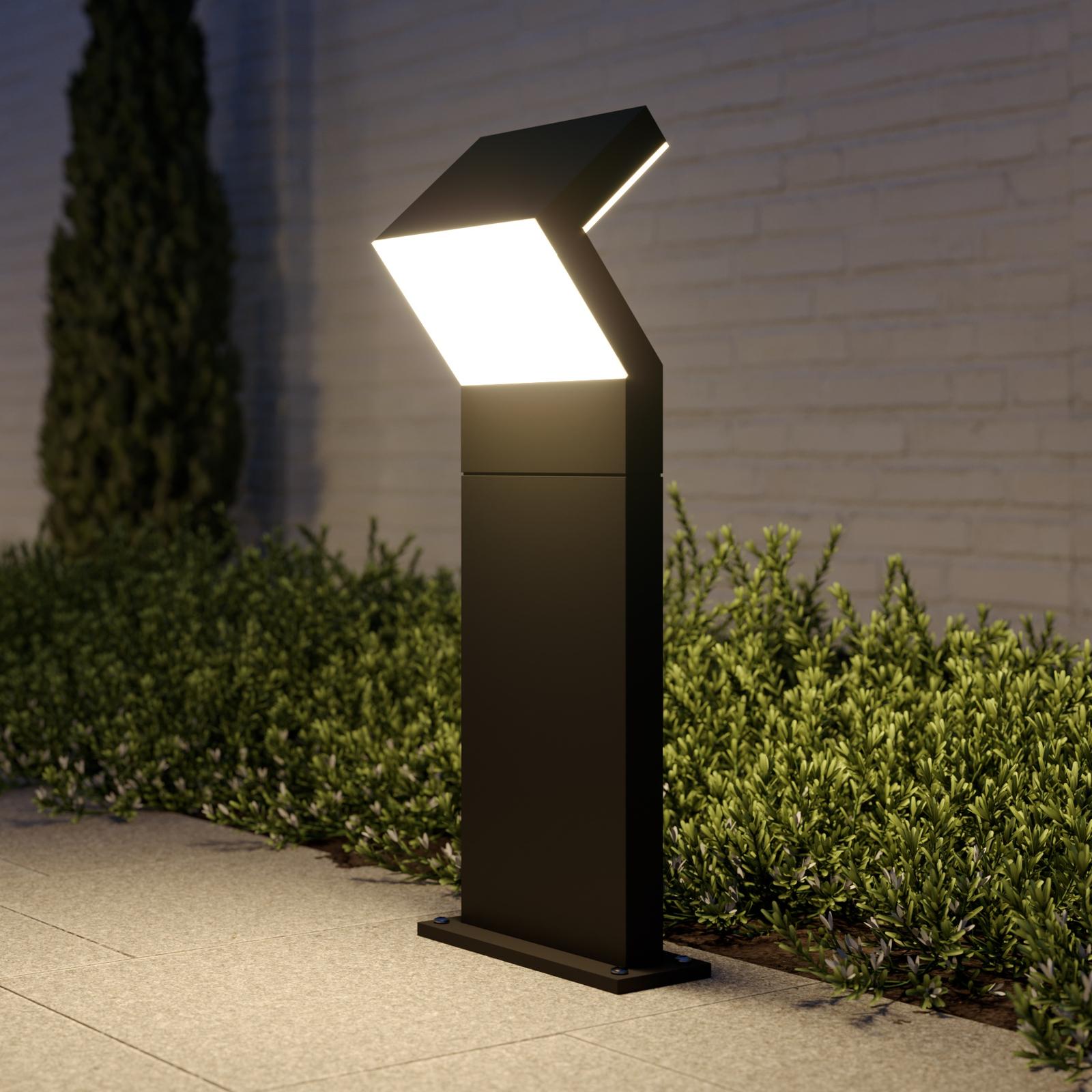 Arcchio Havin potelet LED, gris foncé