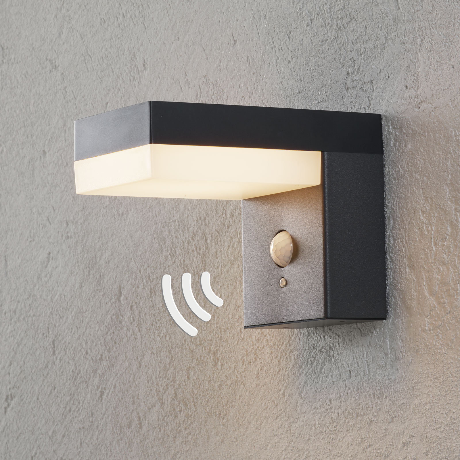 Applique d'extérieur LED Chioma solaire, capteur