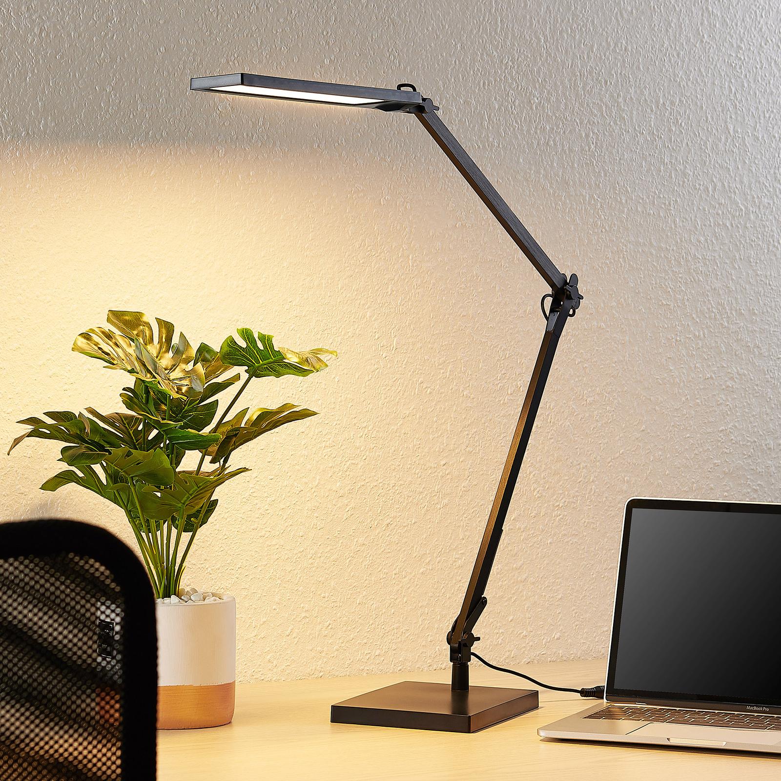 Lindby Antisa LED-Schreibtischlampe CCT mit Dimmer