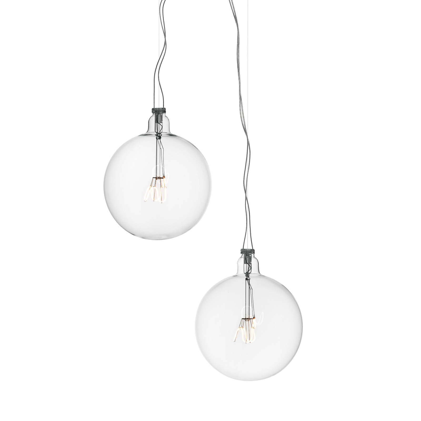 FLOS Bulbo57 LED-Pendelleuchte, zweiflammig