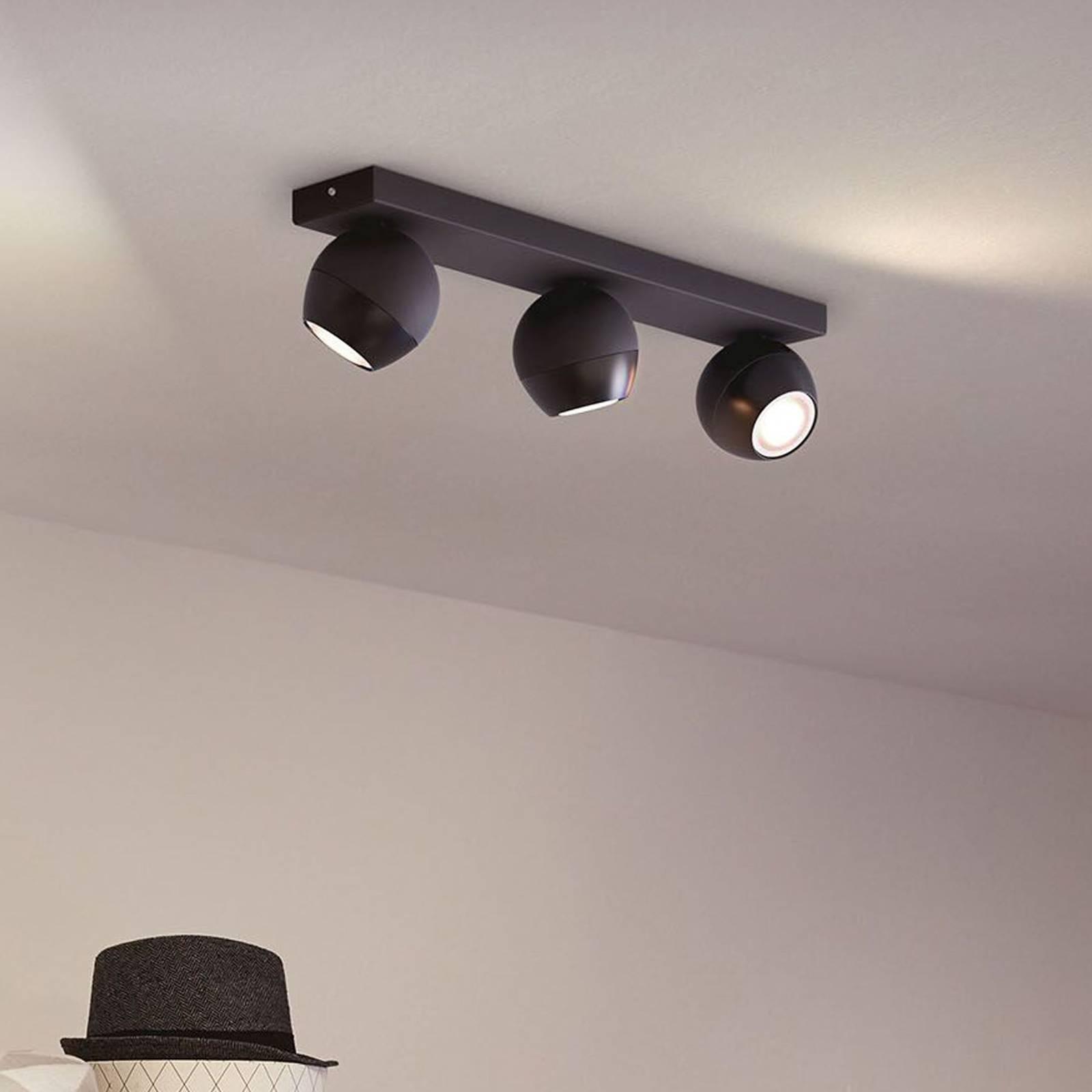 Philips Hue Buckram 3 luci dimmer nero