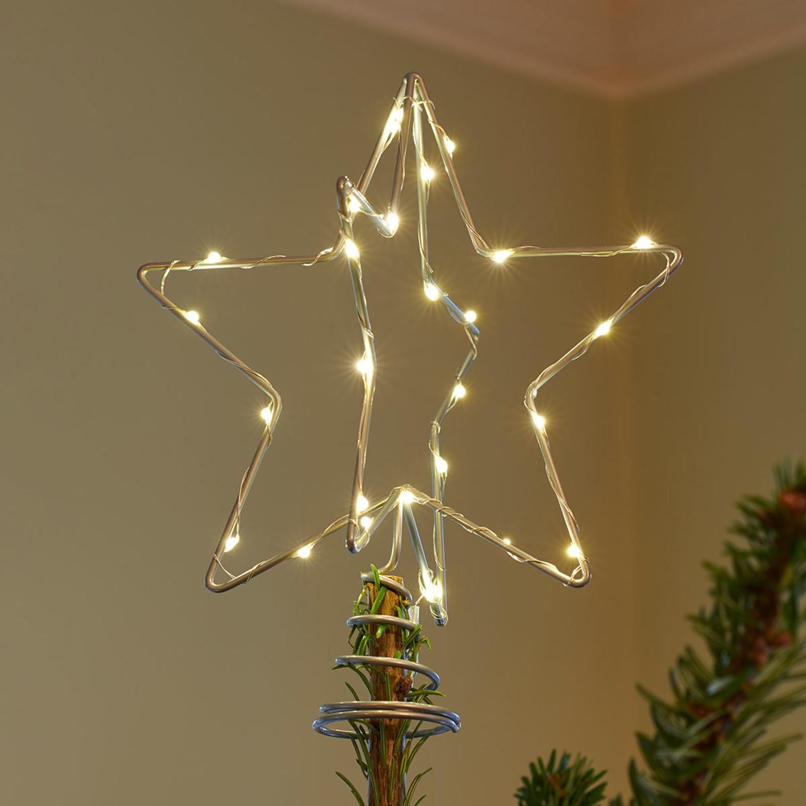 LED-koristevalaisin Christmas Top, hopea