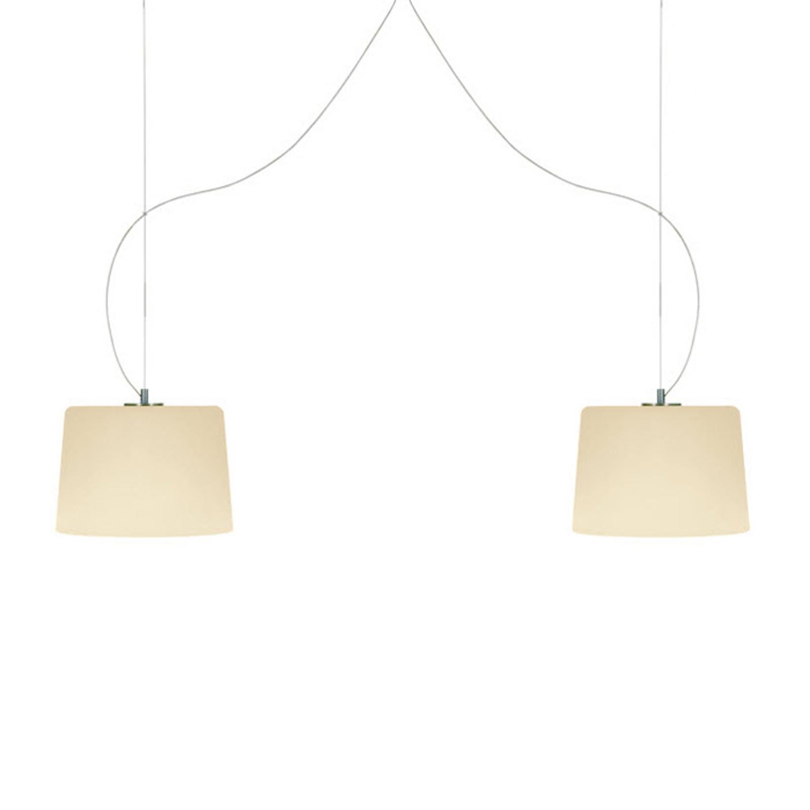 Casablanca Mesa – dvoj-plameňová závesná lampa