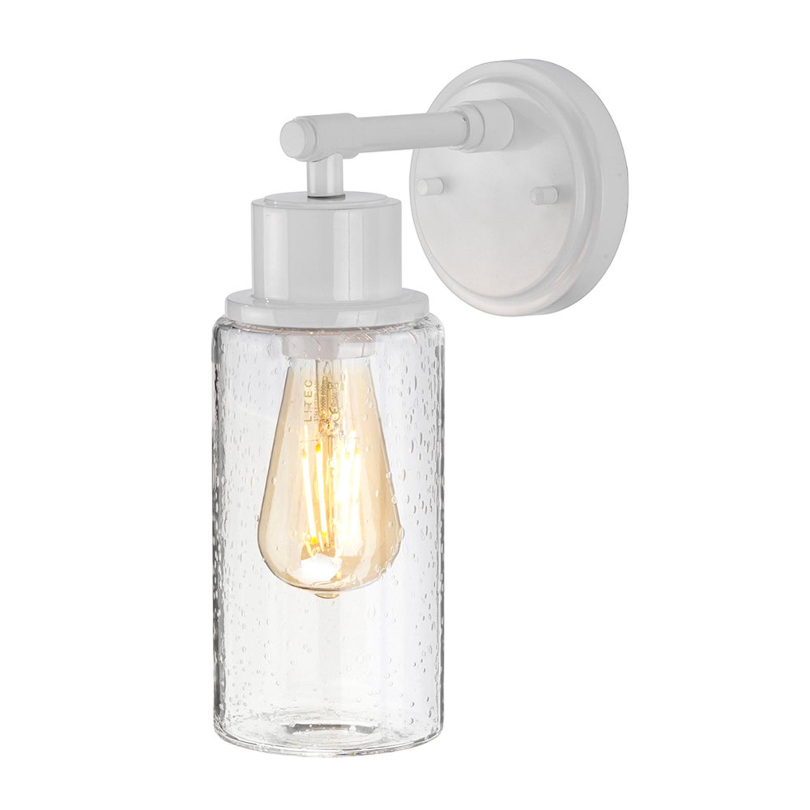 Wandlamp Morvah voor badkamers in het wit
