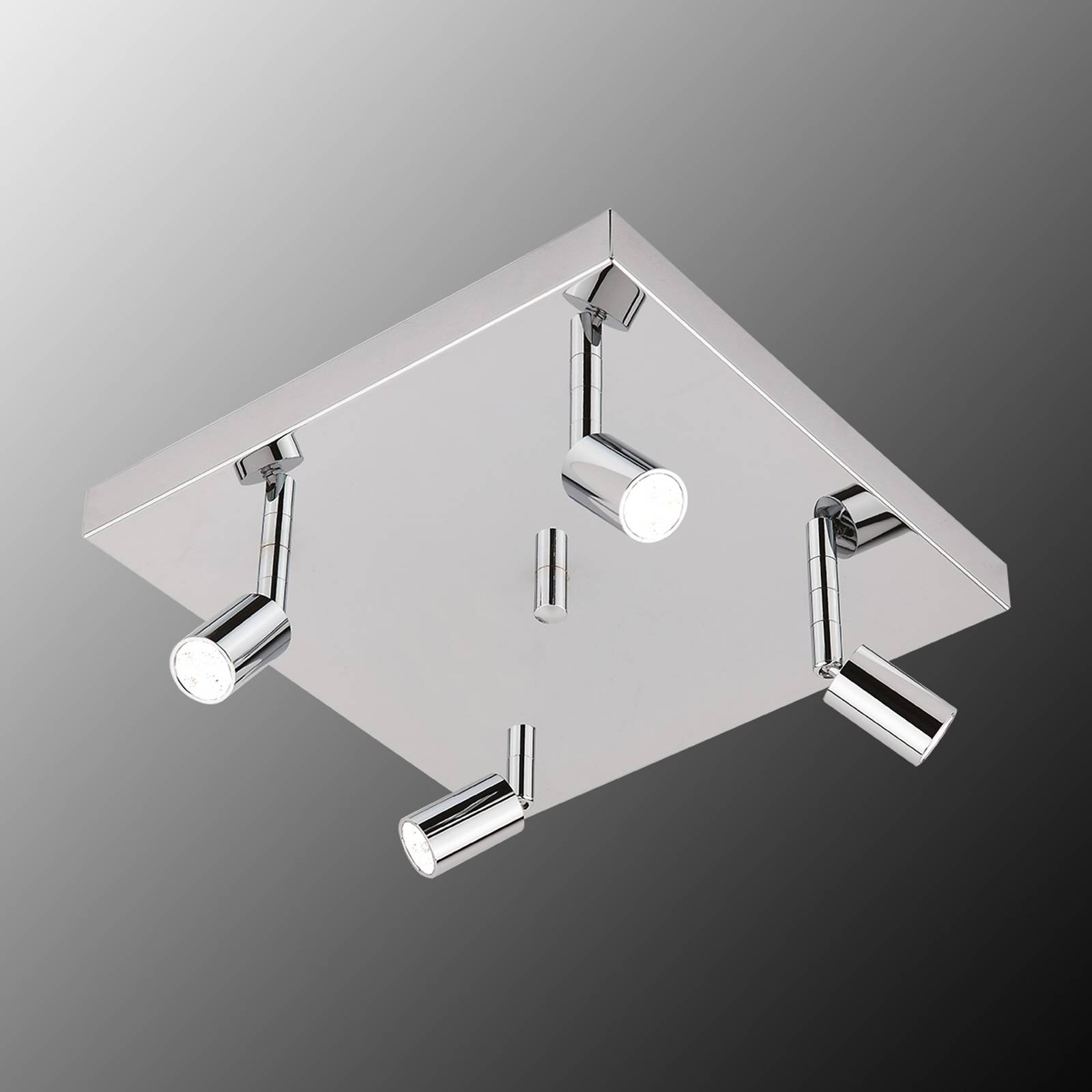Quadratische LED-Deckenleuchte Karen 4-flg