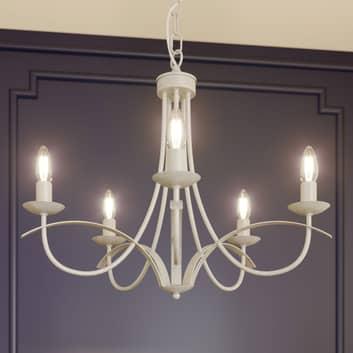 Lindby Amonja lustr, 5žárovkový, bílý