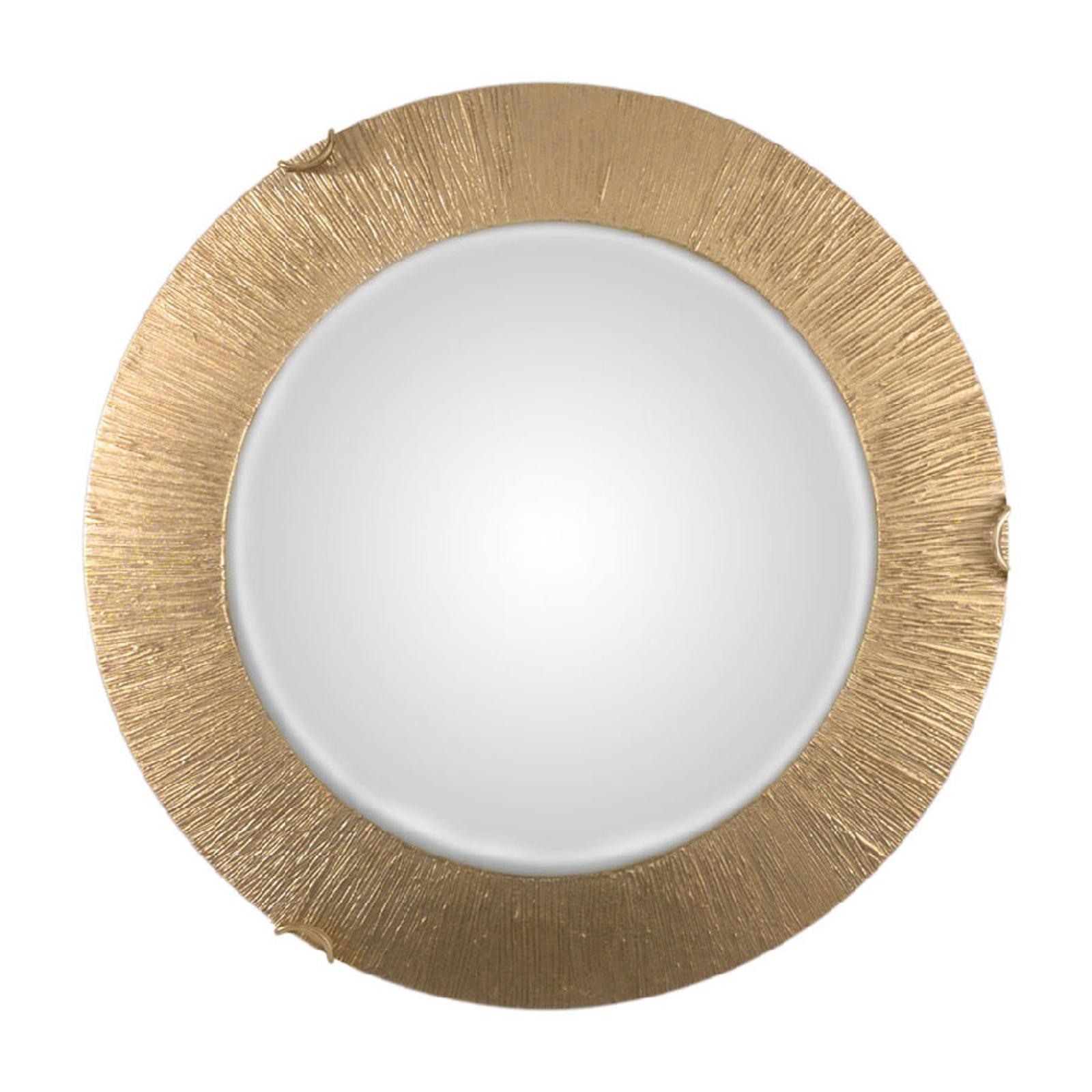 Lampa sufitowa Moon Sun, złota, Ø 40 cm