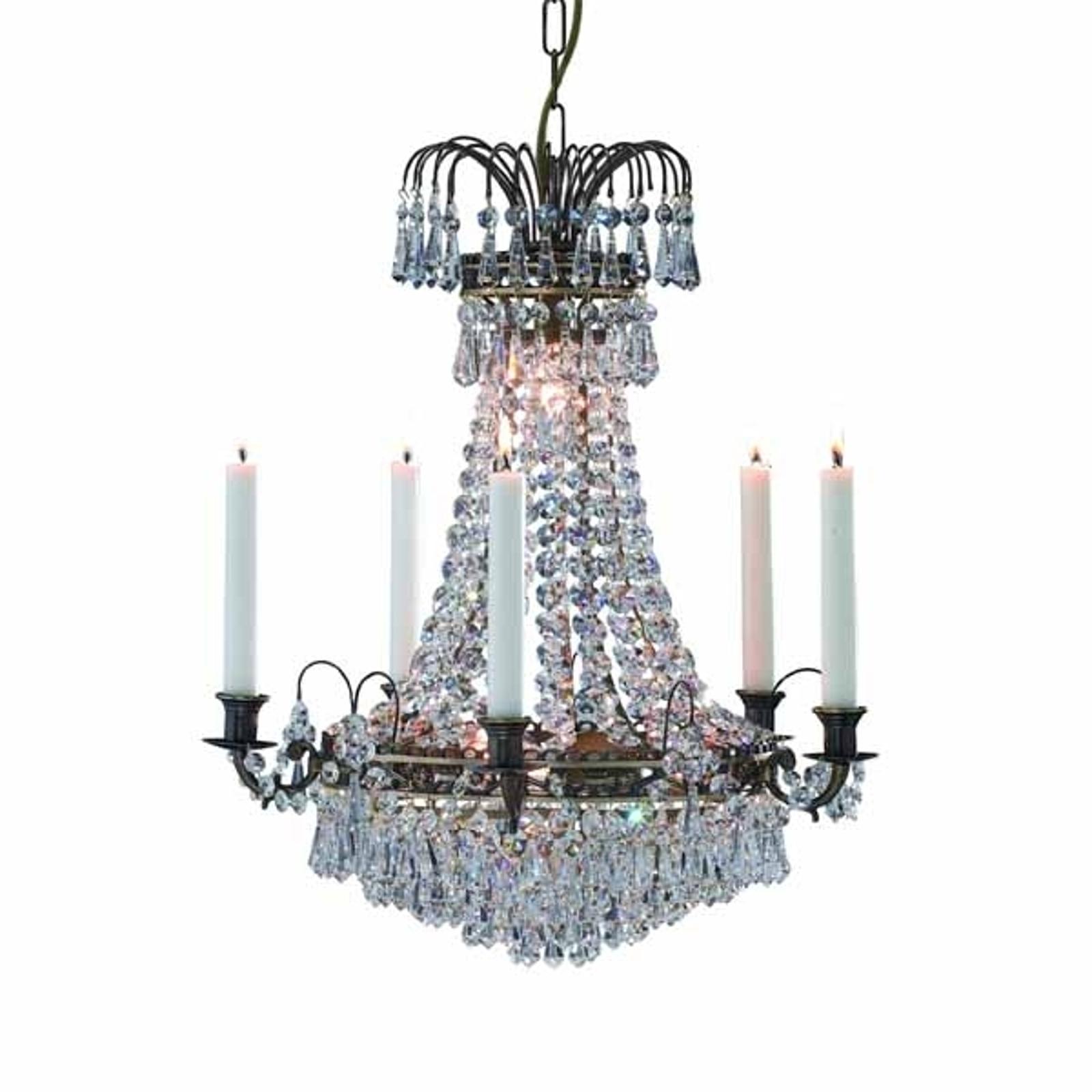 Präktig ljus-lampkrona Lacko 48 cm