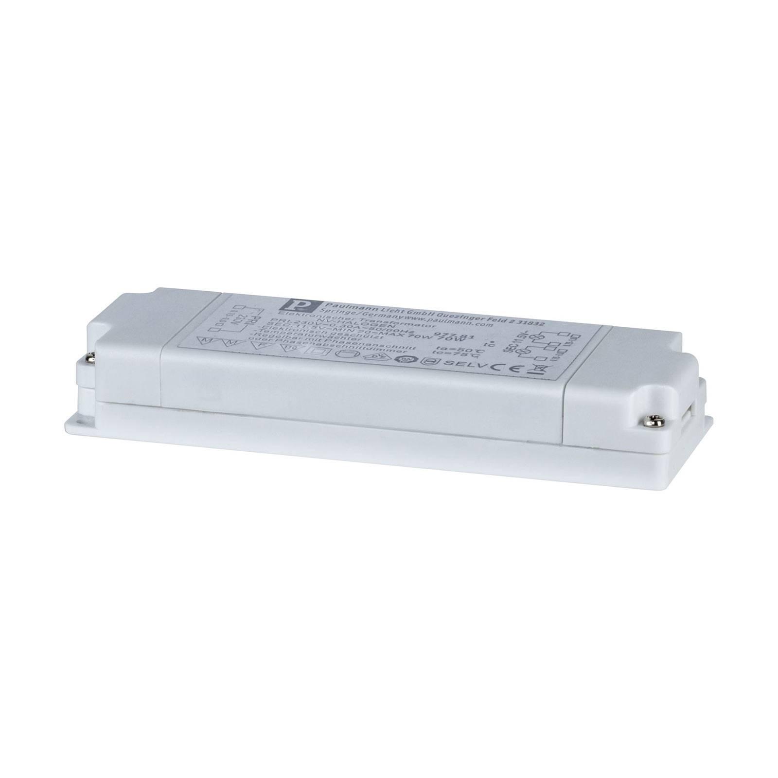 VDE Flat Elektroniktrafo 20-70 W 230/12 V 70 VA