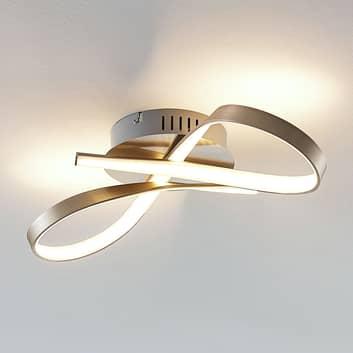 Lámpara LED de techo Alana con forma de lazo