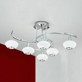 Intéressant plafonnier LURANA, à 6 lampes
