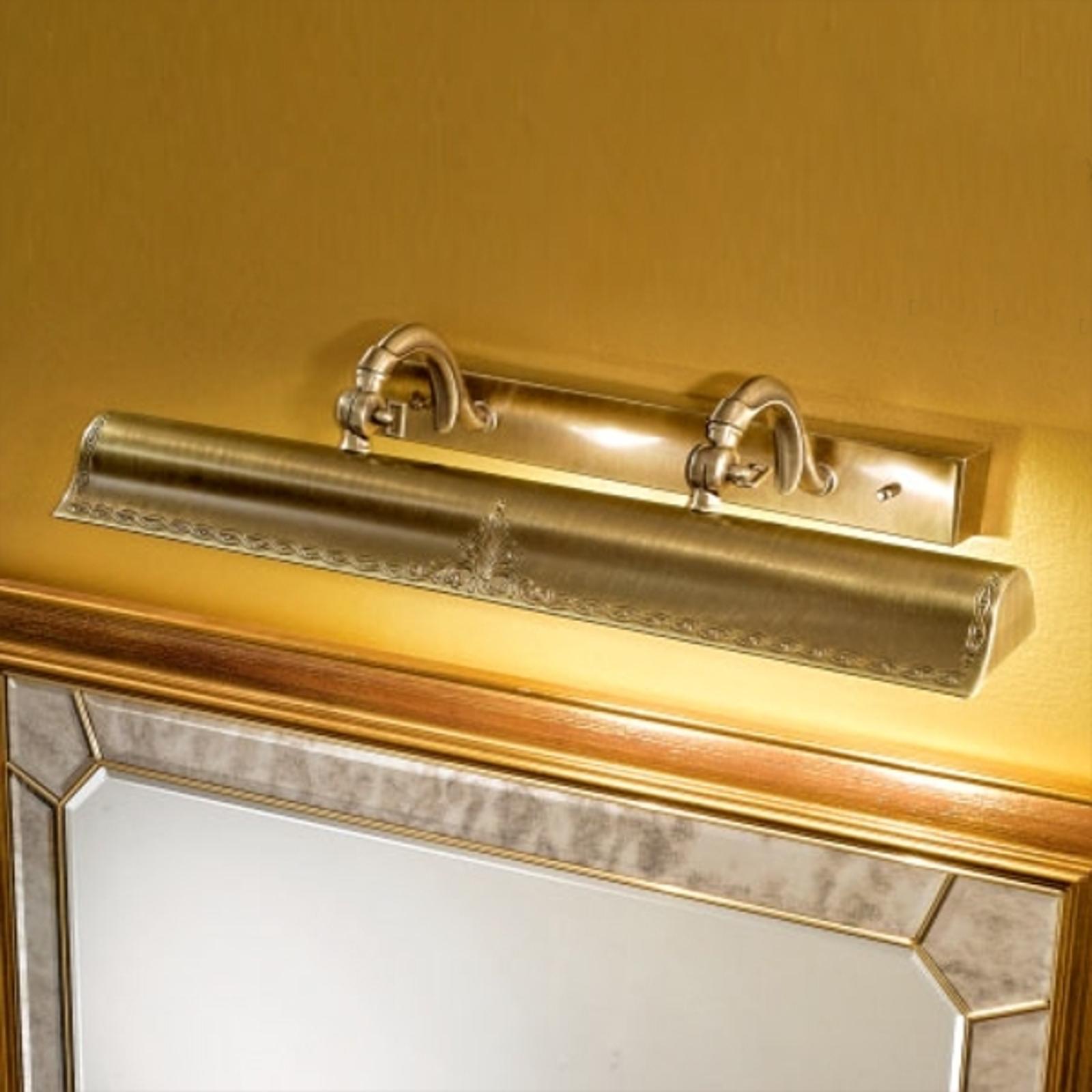 Guldfarvet Galleria billedlampe