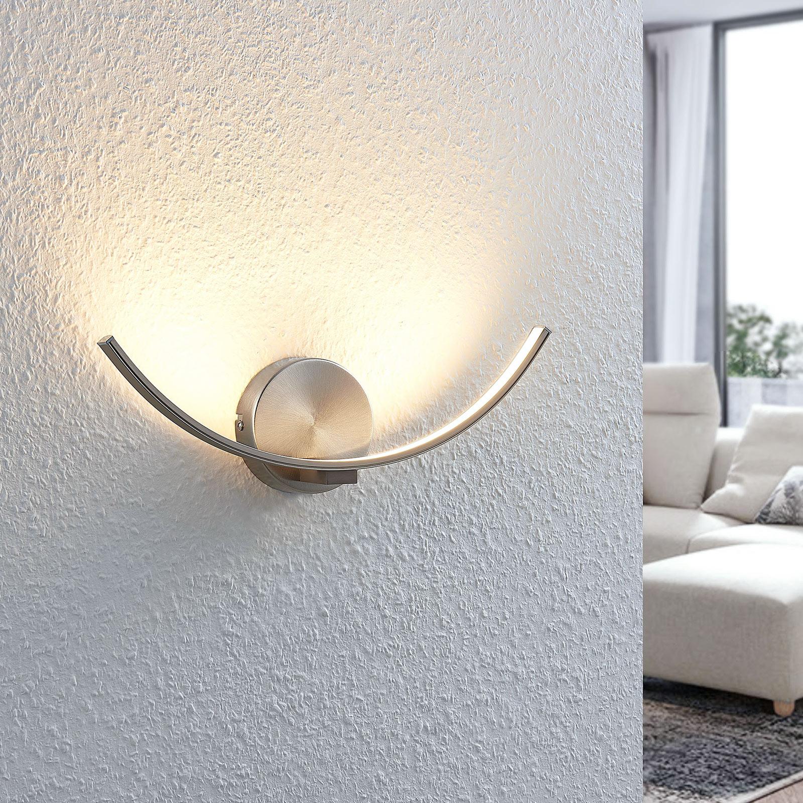 Gebogene LED-Wandlampe Iven