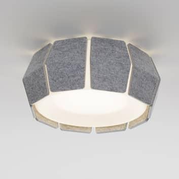 LOUM Decafelt-LED-loftlampe akustik Ø 54 cm