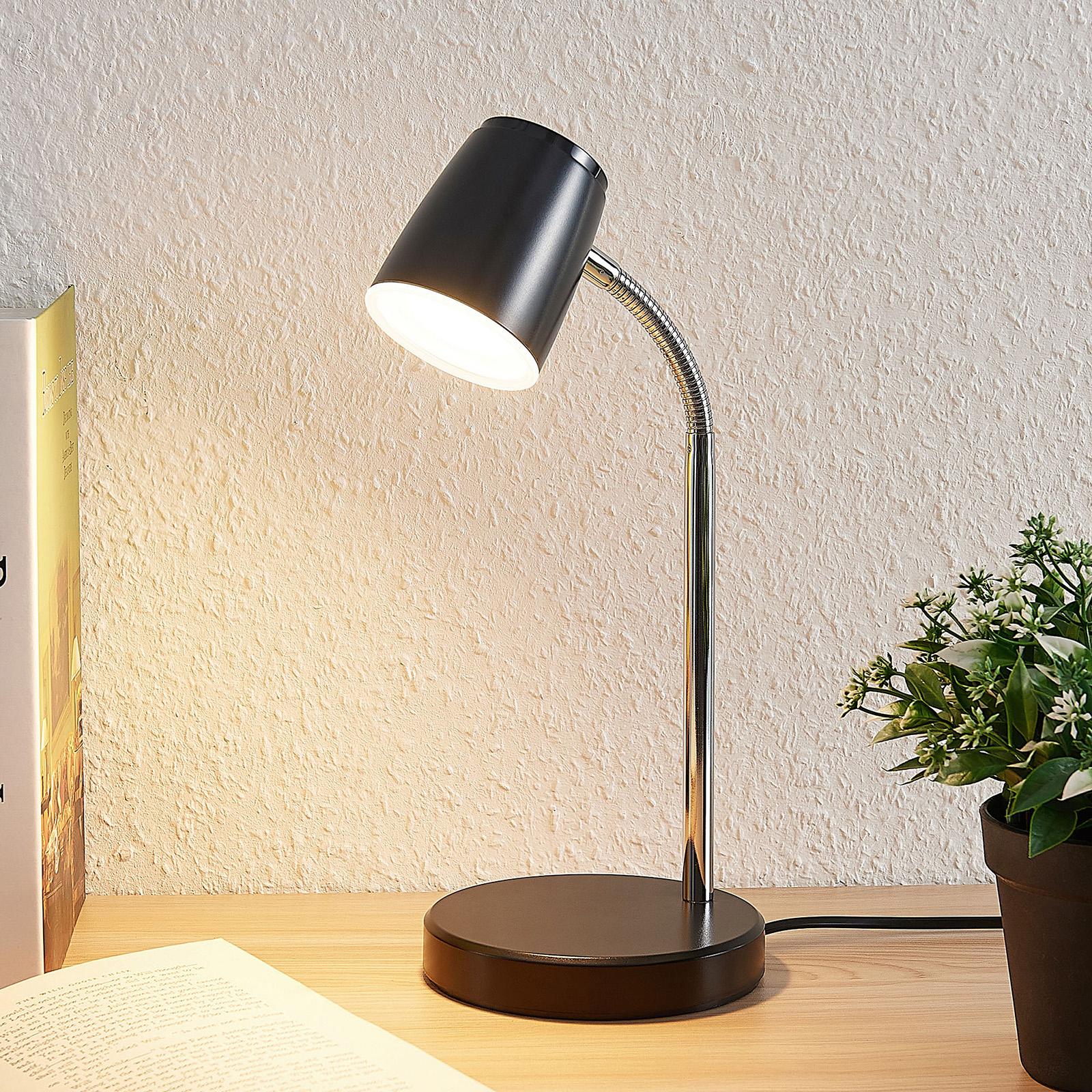 Lindby Jegor LED-Tischleuchte in Schwarz