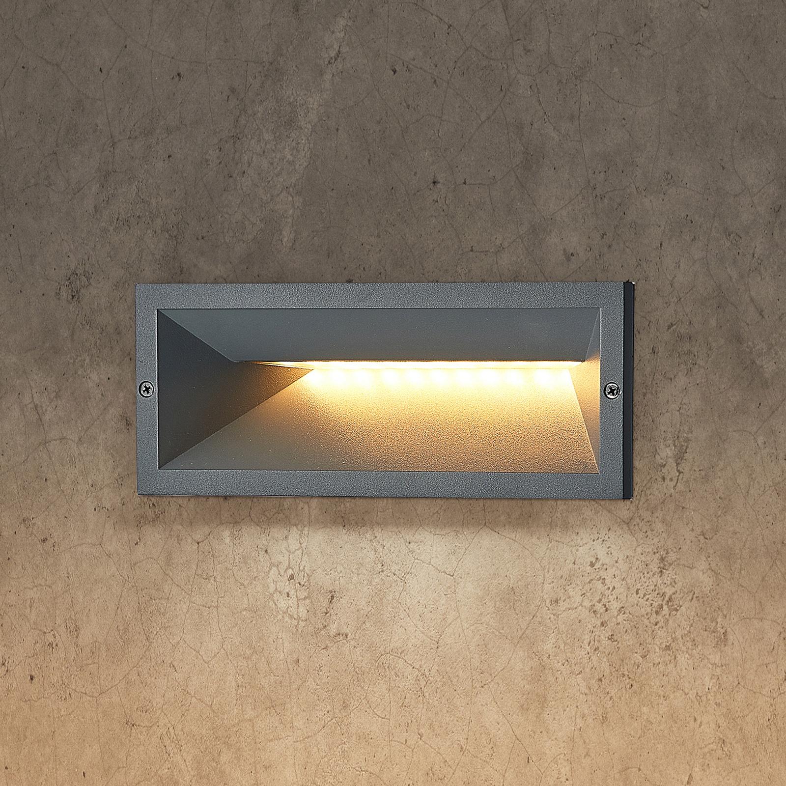 Lucande Jaano applique encastrée LED d'extérieur