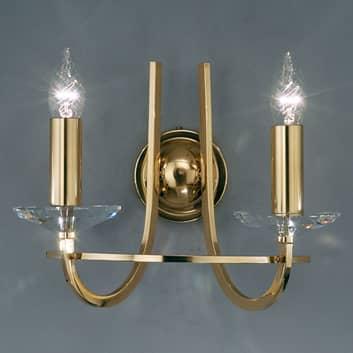 KOLARZ Imperial vägglampa, mässing, 2 lampor