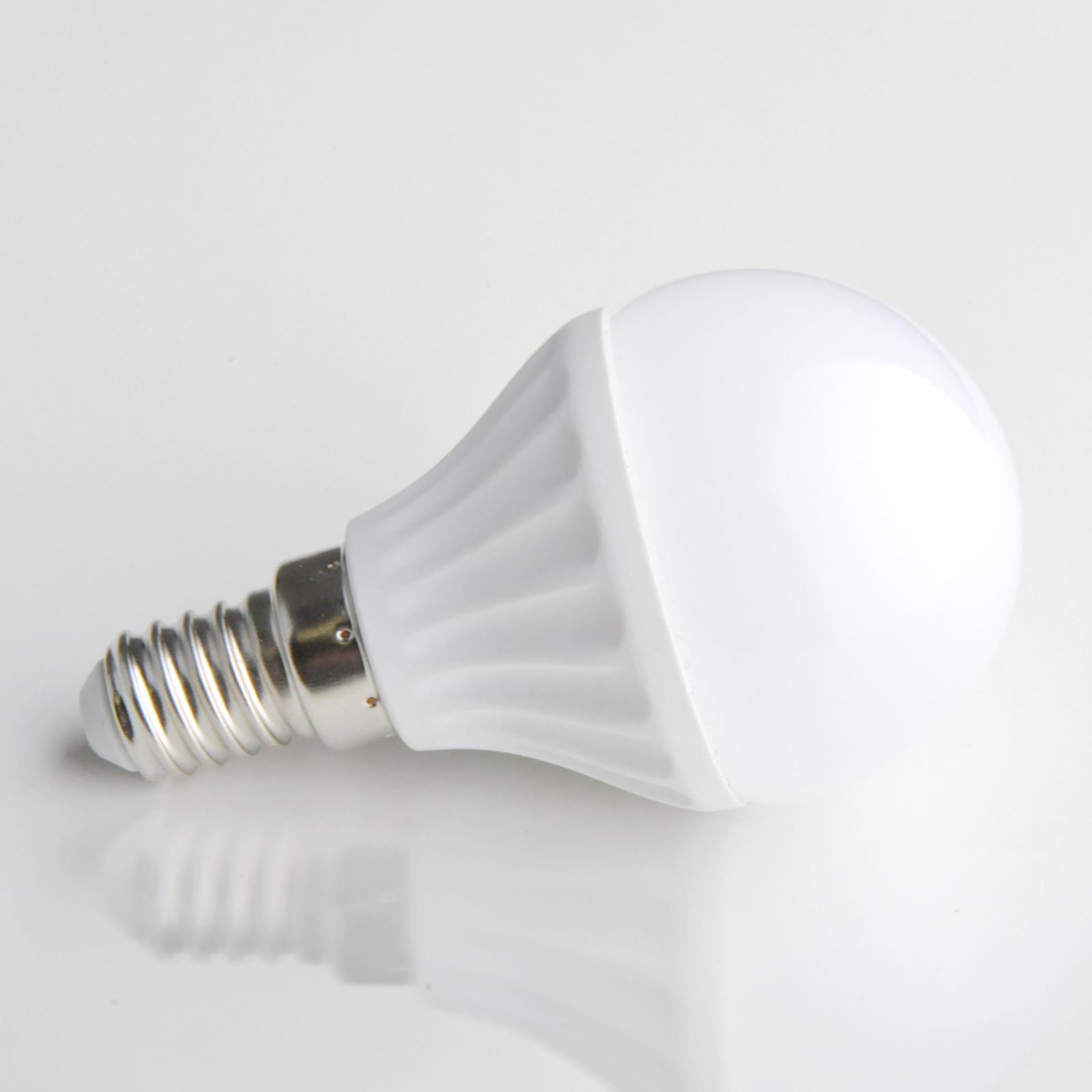 E14 4W LED-lampe i dråbeform mat