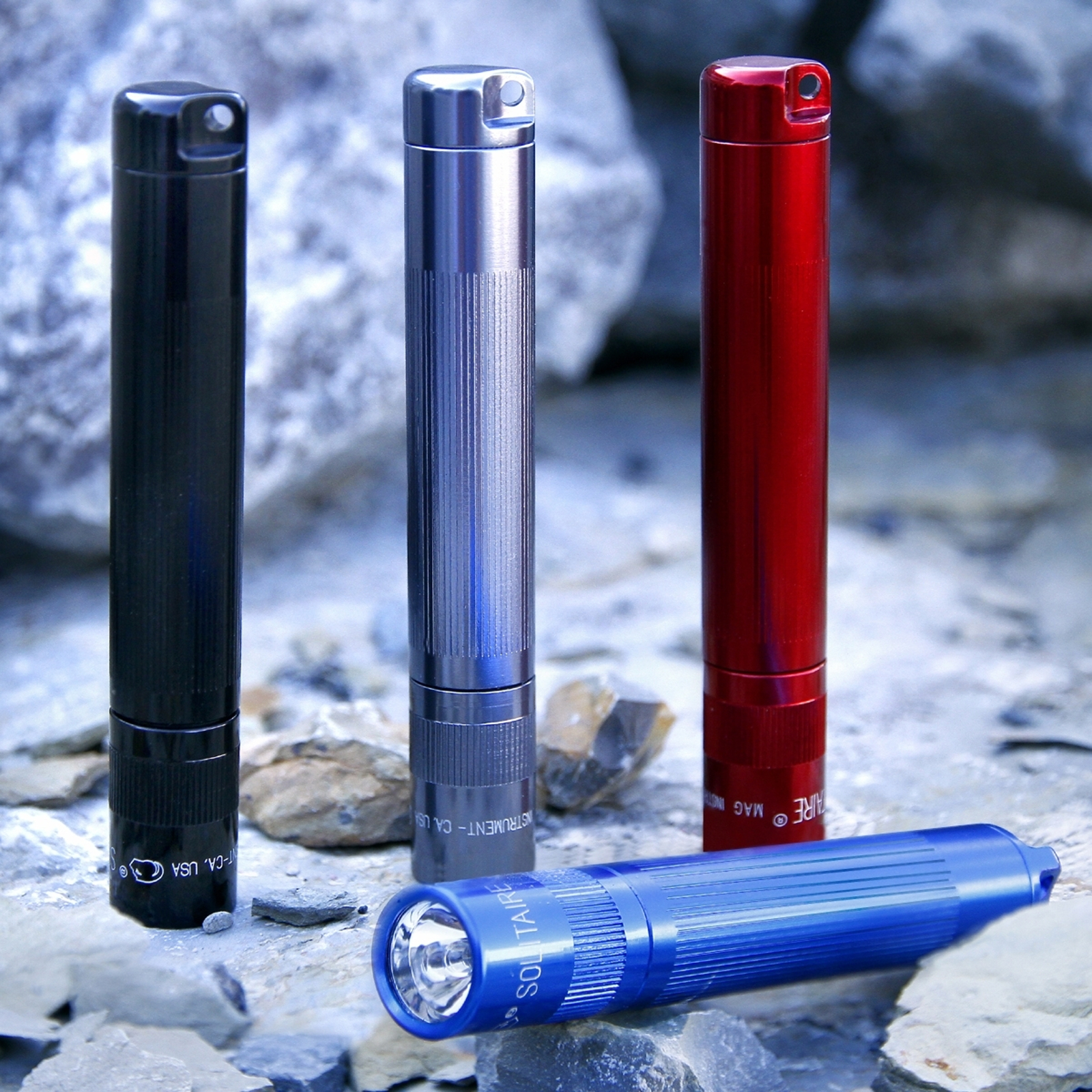 Maglite Solitaire Taschenlampe in Rot