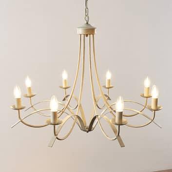 Lindby Amonja kroonluchter, 8-lamps, wit