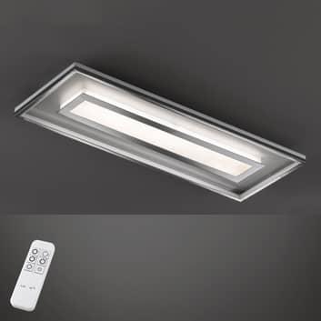 LED-Deckenleuchte Bug rechteckig 120x40 cm, chrom