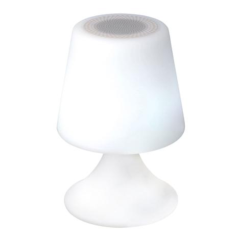 Lámpara decorativa LED Curbi con altavoz Bluetooth