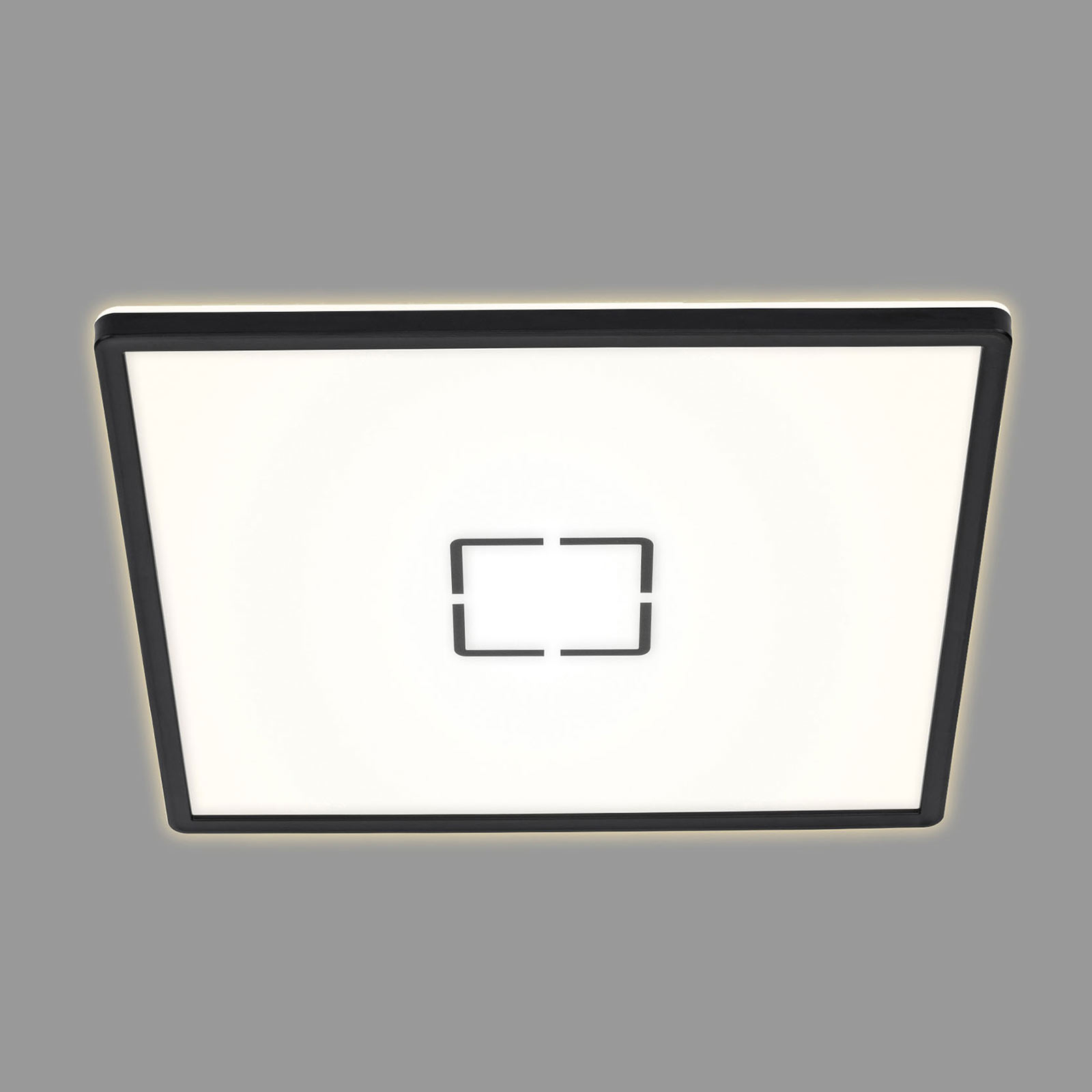 Lampa sufitowa LED Free, 42 x 42 cm, czarna