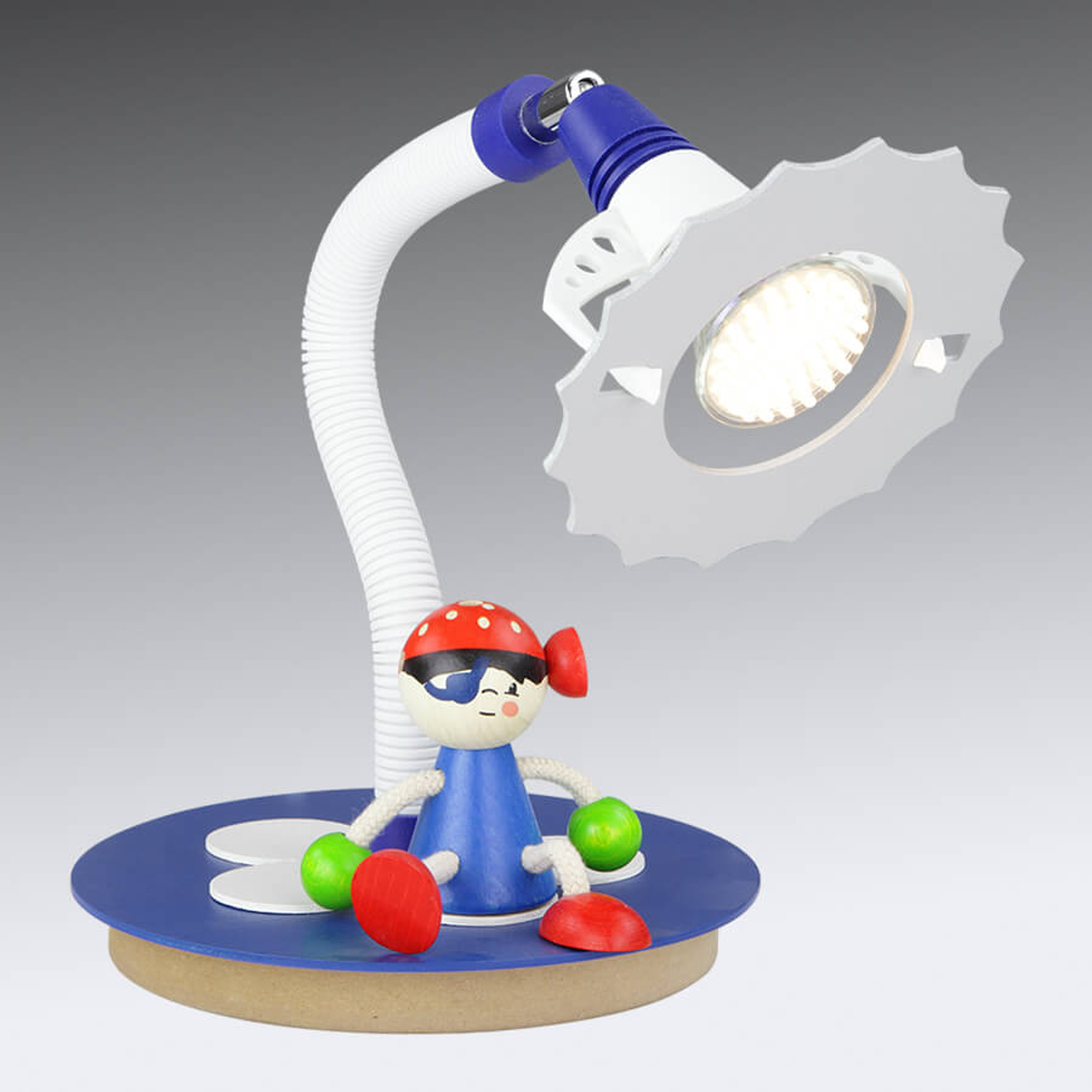 Lampe à poser LED Pirate avec personnage assis