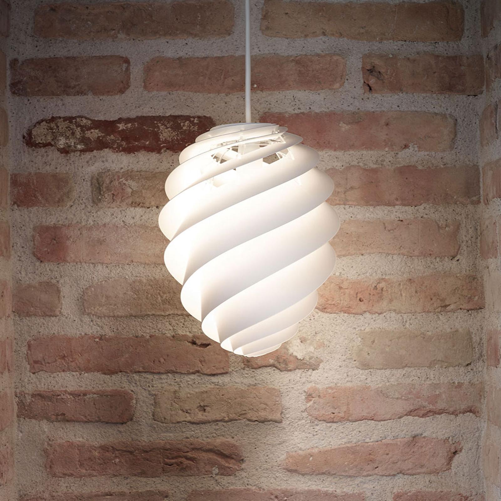 LE KLINT Swirl 2 Small, biała lampa wisząca