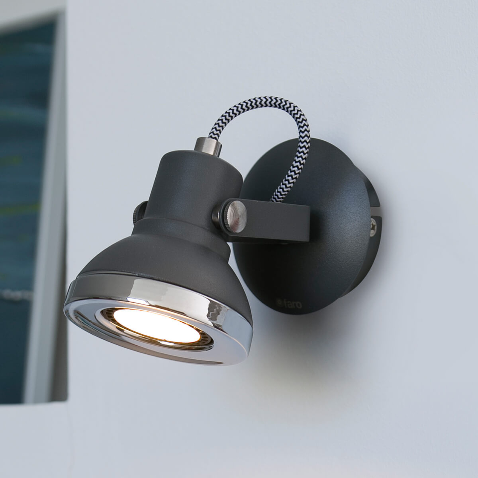 Spot LED Ring 1 luce in grigio scuro