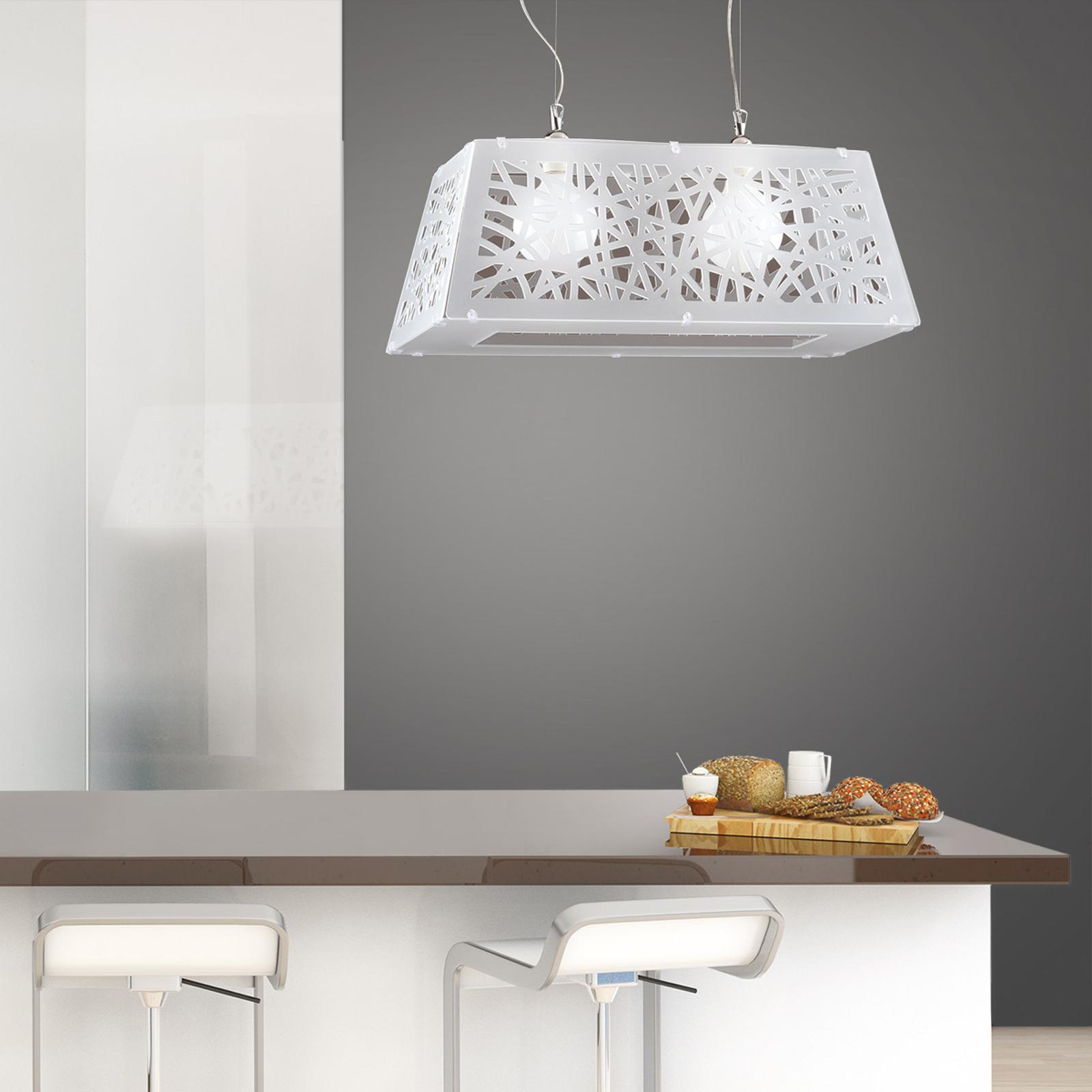 2-lamps hanglamp Star in diamantlook