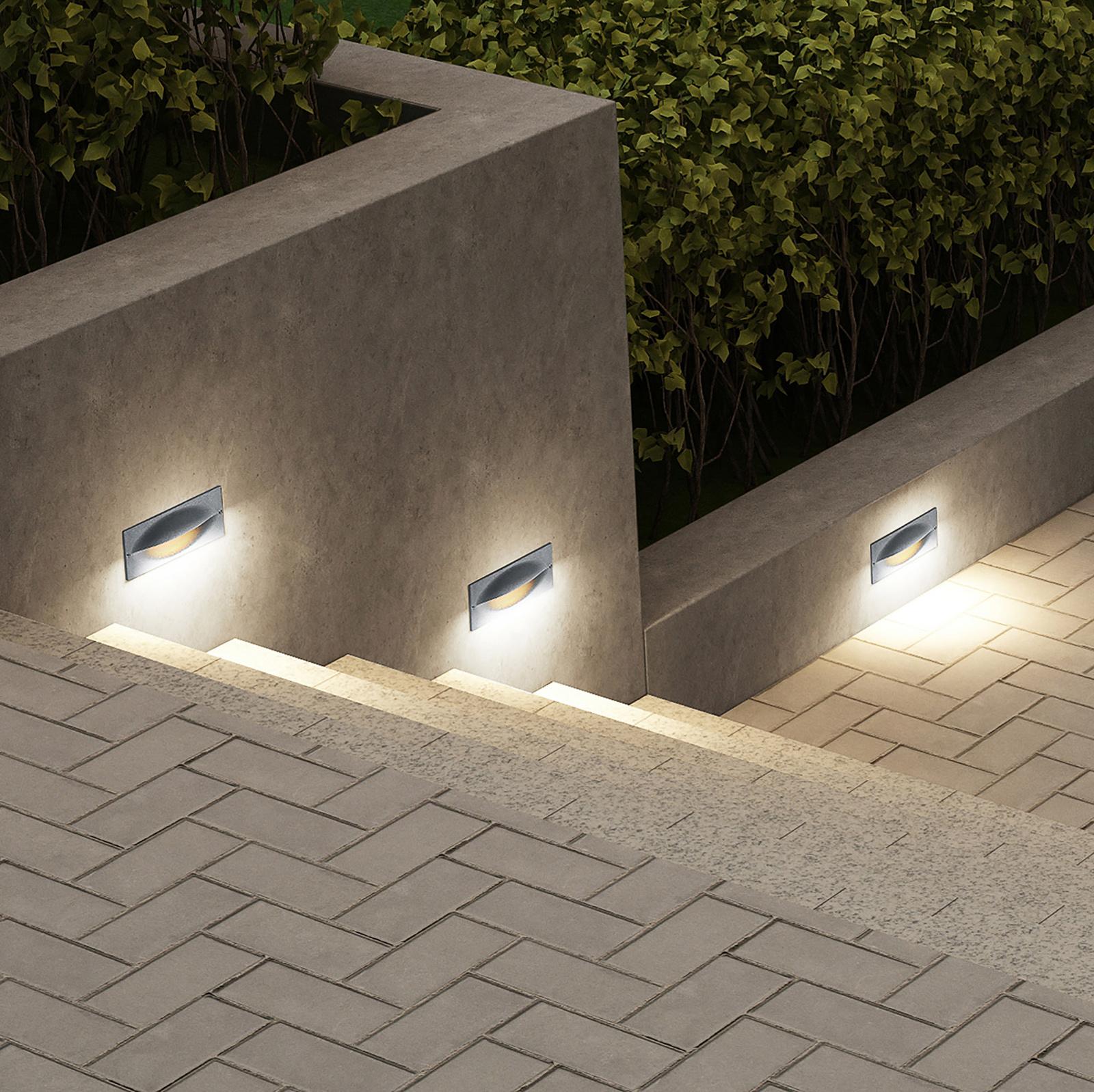 Lucande Zandro applique encastrée LED d'extérieur
