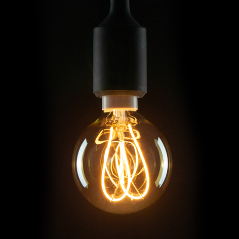 E14 4W 922 LED-Filament-Globe G80 Curved Line