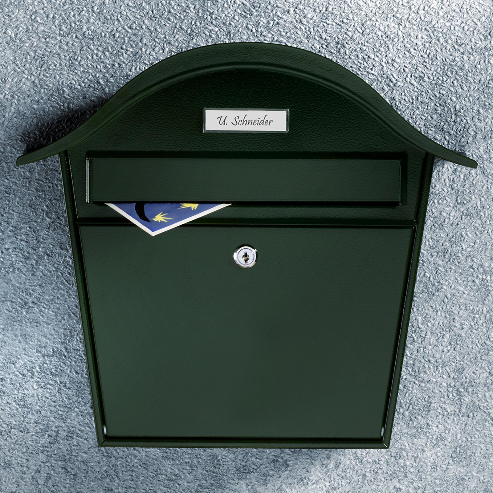 Cassetta postale Holiday 5842, acciaio color verde