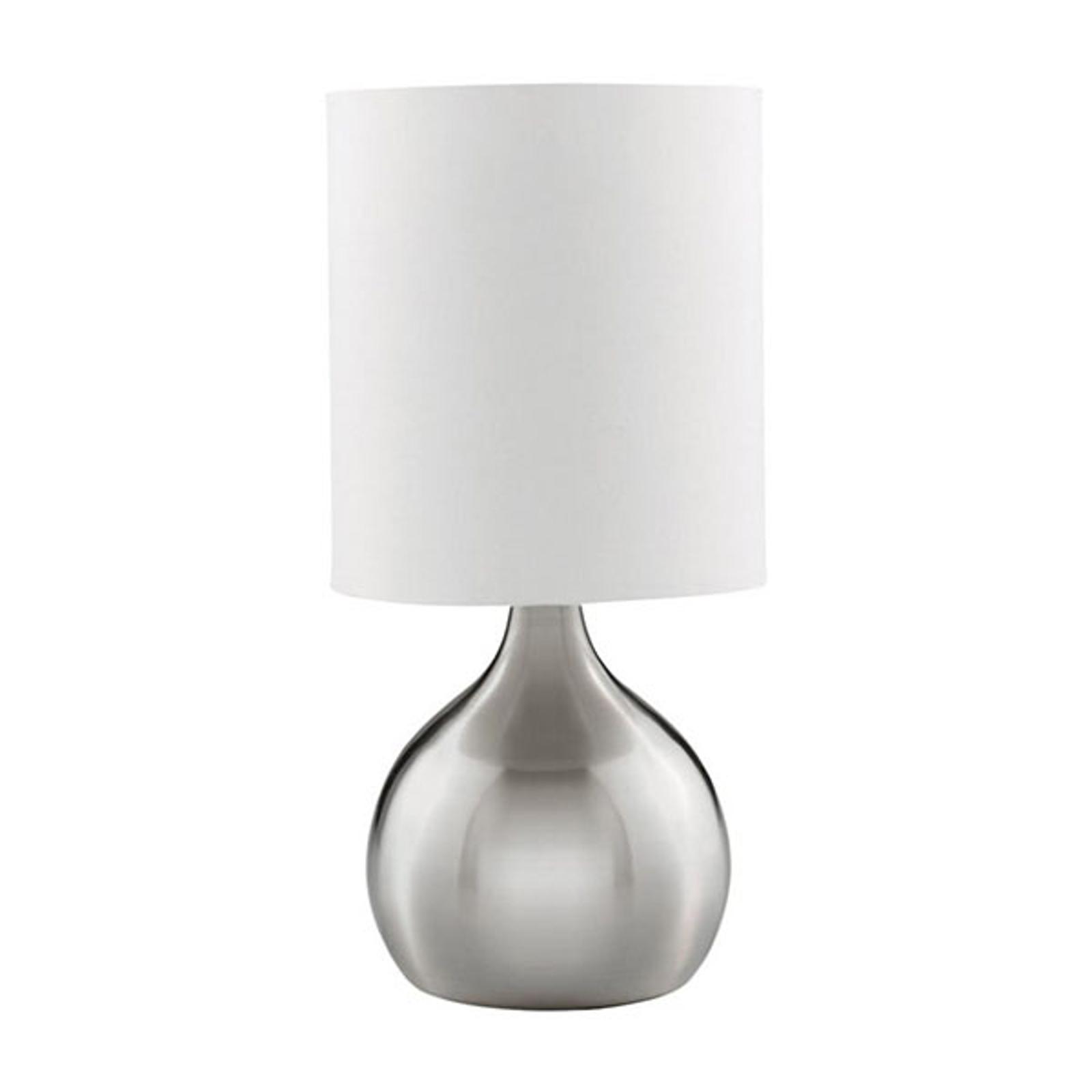Tafellamp touch 3923, gesatineerd zilver