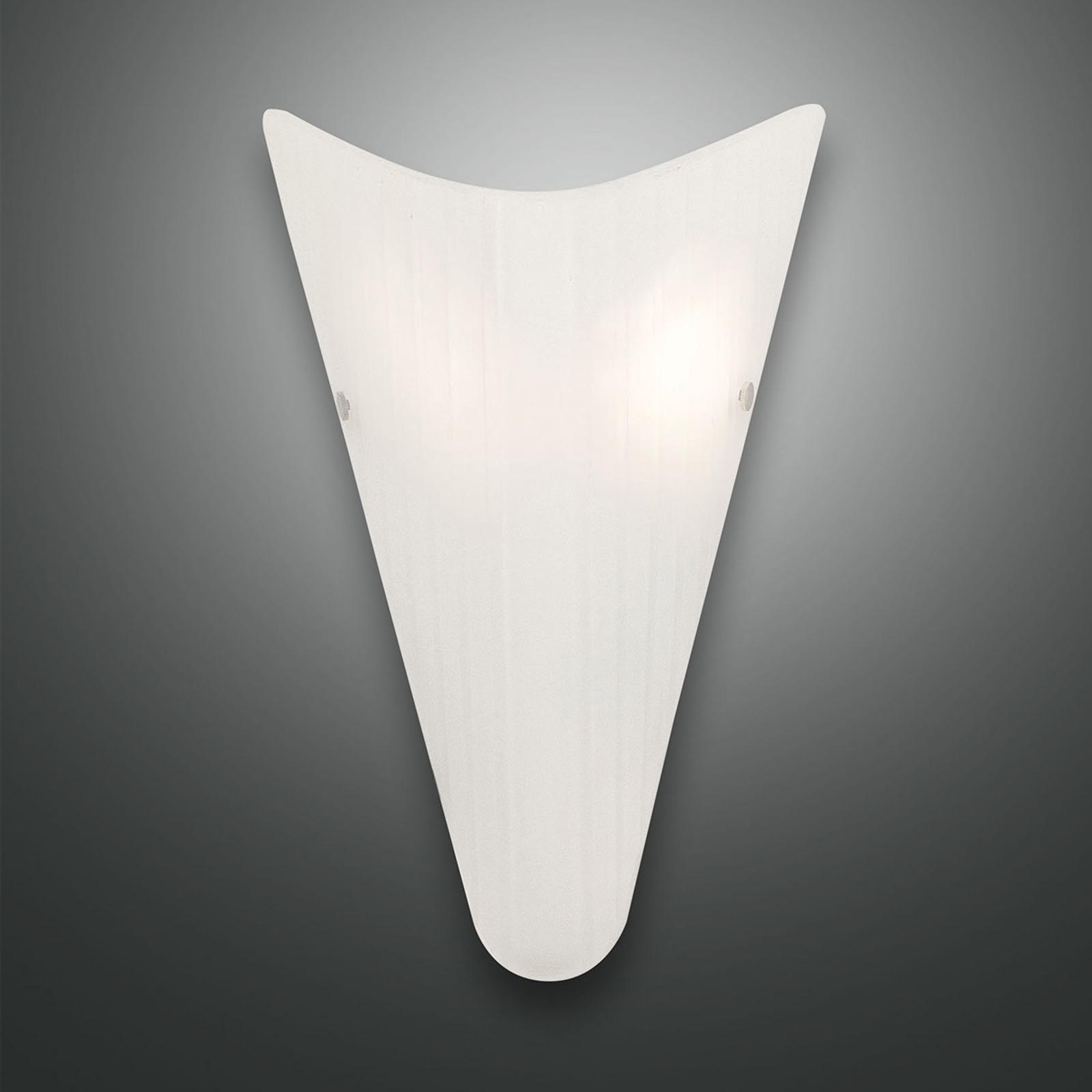 Wandlamp Fly met glazen kap, wit